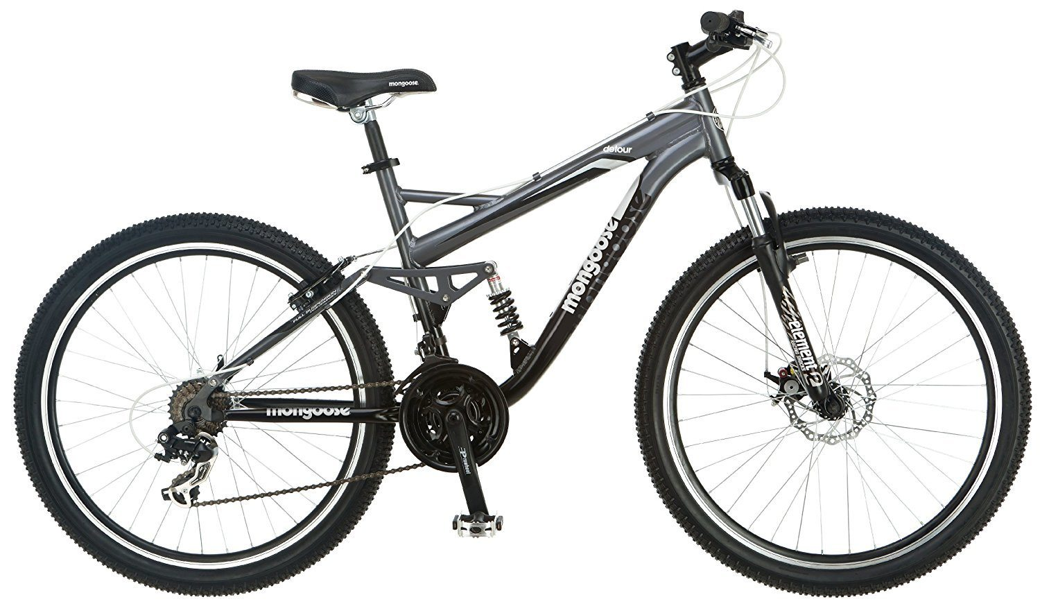 Mongoose Detour Full Suspension Bicycle Review Mountain