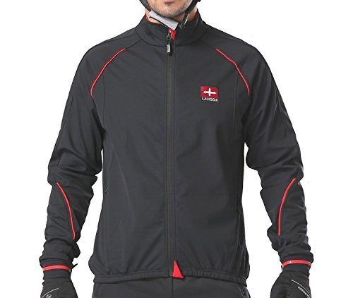 4ucycling Windproof Full Zip Wind Jacket with 3-layers Composite Stretchy Fabric Black