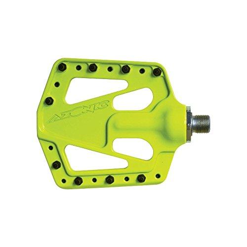 Azonic Flat Iron Pedal, Neon Yellow