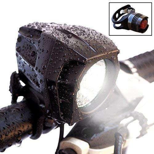Best Value - Bright Eyes Fully Waterproof 1600 Lumen Rechargeable Bike Light