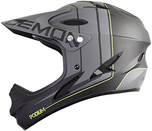 Demon Podium Full Face Mountain Bike Helmet (Black, M)
