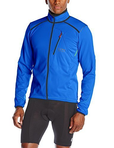 Gore Bike Wear Men's Fusion Tool Soft Shell Jacket, Brilliant Blue/Black, Medium