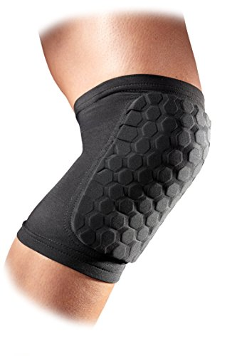 Mcdavid 6440 Hex Knee Pads/ Elbow Pads/ Shin Pads for Volleyball, Basketball, Football & All Contact Sports, Youth & Adult Sizes, Sold as Pair (2 Sleeves)