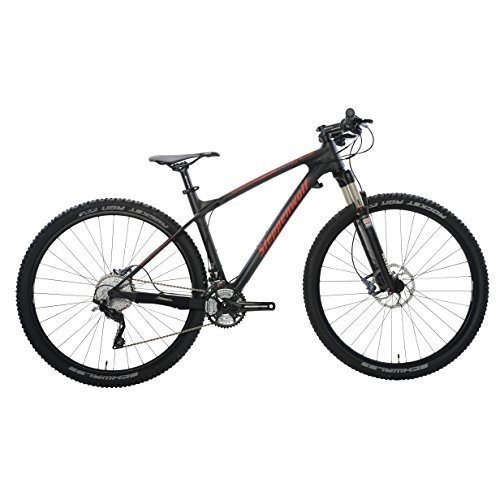 Steppenwolf Men's Tundra Carbon LTD Hardtail Mountain Bike, 29 inch wheels, 20 inch frame, Men's Bike, Black/Red, 99% assembled