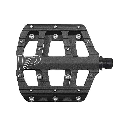 VP Bike Pedals for MTB BMX Bicycle, 9/16-Inch Spindle, Aluminum Platform with Replaceable Anti-slip Pins