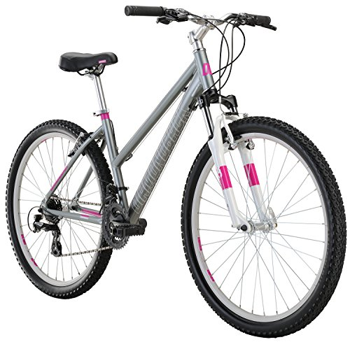 "Diamondback Bicycles Laurito Womens Recreational Mountainbike, 17"" Frame, Silver, 17"" / Medium"