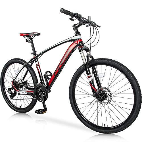 Merax Falcon Full Suspension Mountain Bike Aluminum Frame 21-Speed 26-inch Bicycle (Green)