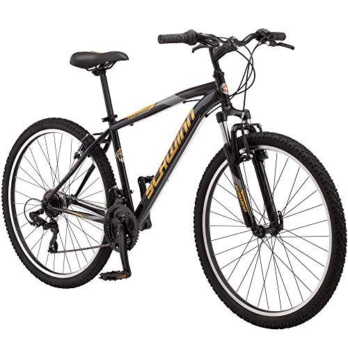 Schwinn High Timber Youth/Adult Mountain Bike, Steel Frame, 27.5-Inch Wheels, 21-Speed, Black