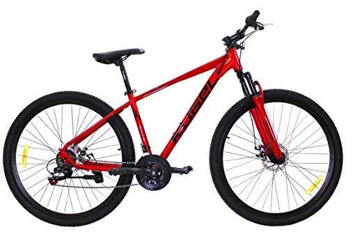 H-Hybrid Mountain Bike 29 inch Aluminium Disc Brakes 21 Speed (Red)