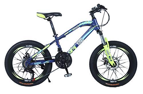 Rainier Mountain Bike 20 inch Shimano Components Disc Brakes Suspension (Blue-Yellow)